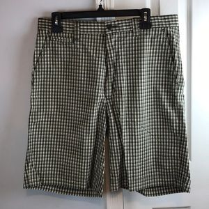 Nautica Clippers relaxes fit plaid shorts Sz 34